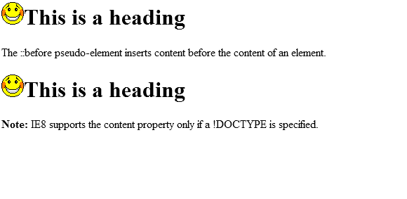 before element css pseudo elements