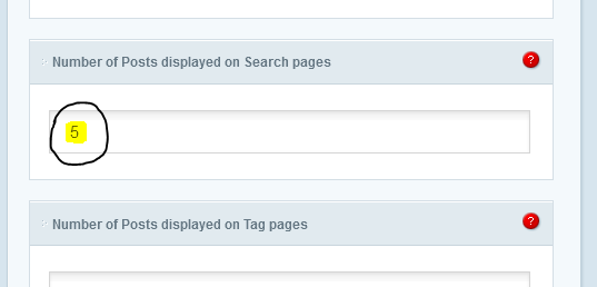 Posts Display on Search Result Page