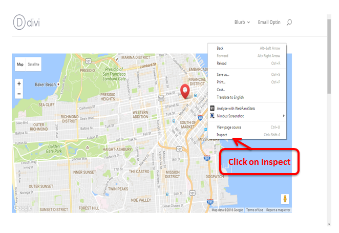 By Using an API Key can use Divi Map Module & Google Map API