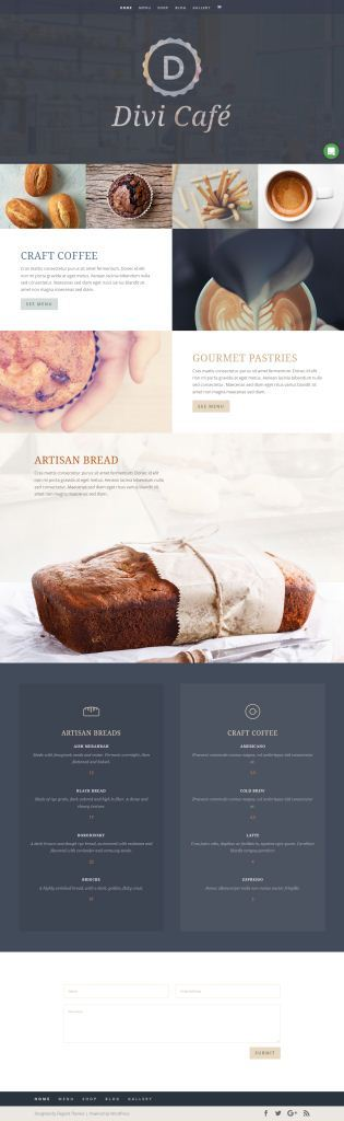 Download Divi Cafe Layout