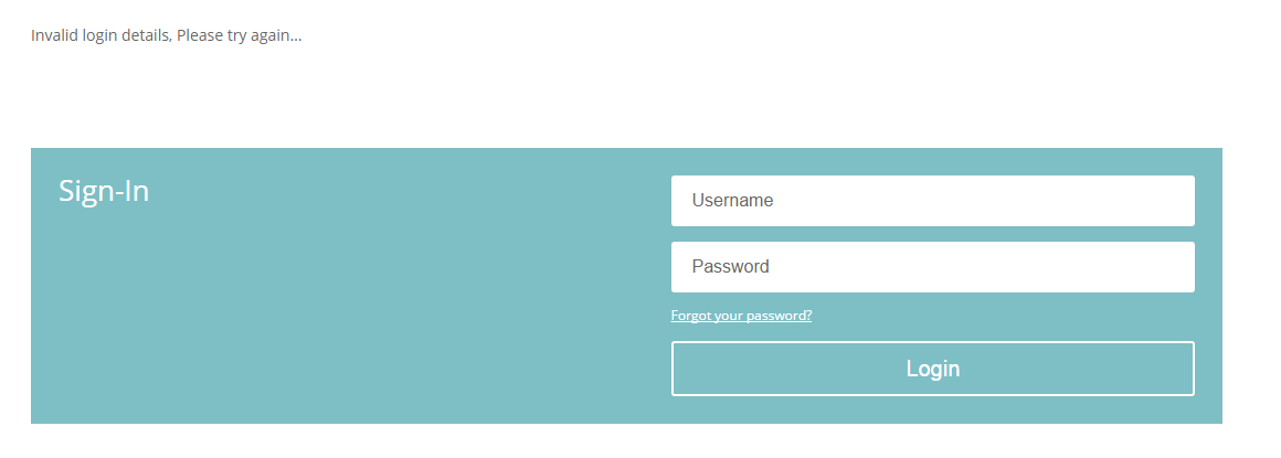 Redirect Login Form