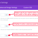 Divi Post Navigation Module