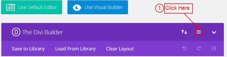 Divi Builder Page Settings