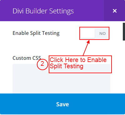 Divi Builder Page Setting
